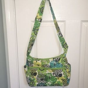 Vera Bradley crossbody bag/ purse in Lime's Up